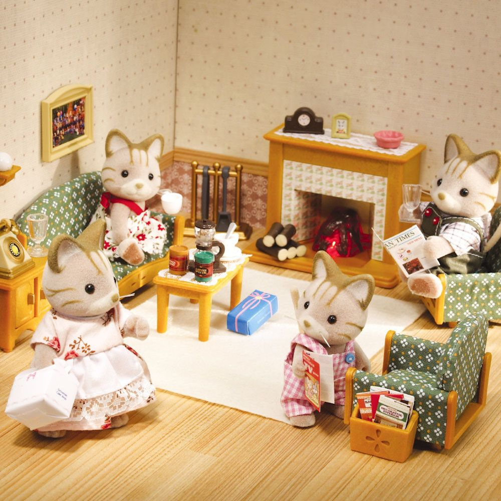Sylvanian Deluxe Living Room Sylvanian Families Calico Critters Families Cosy Living Room