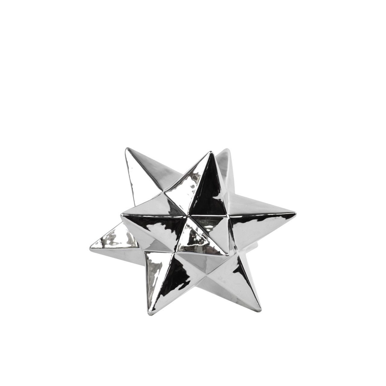 Urban Trends Collection 12 Point Great Icosahedron Sculpture SM Polished Chrome
