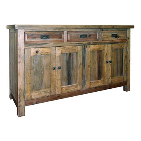 Buffet Sideboard Reclaimed Wood Server Vintage And Rustic