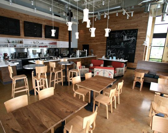 Thatcher\'s Coffee Shop Showcases Modern Recycled Design | Coffee ...