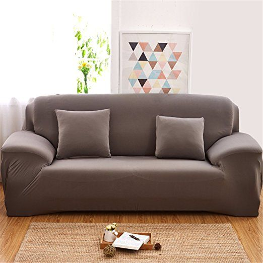 Fabric For Sofa Covers Uk Cheap Sofas Manchester Area Stretch Elastic Slipcovers 3 Seater Protectors Couch Washable Easy Fit Amazon Co Kitchen Home