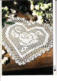 BethSteiner: Toalha de coração em crochê