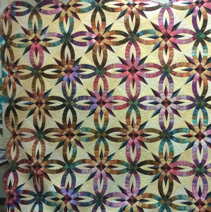 King Size Bali Wedding Star Quilt Double Wedding Ring Quilt Wedding Ring Quilt Judy Niemeyer Quilts Pattern