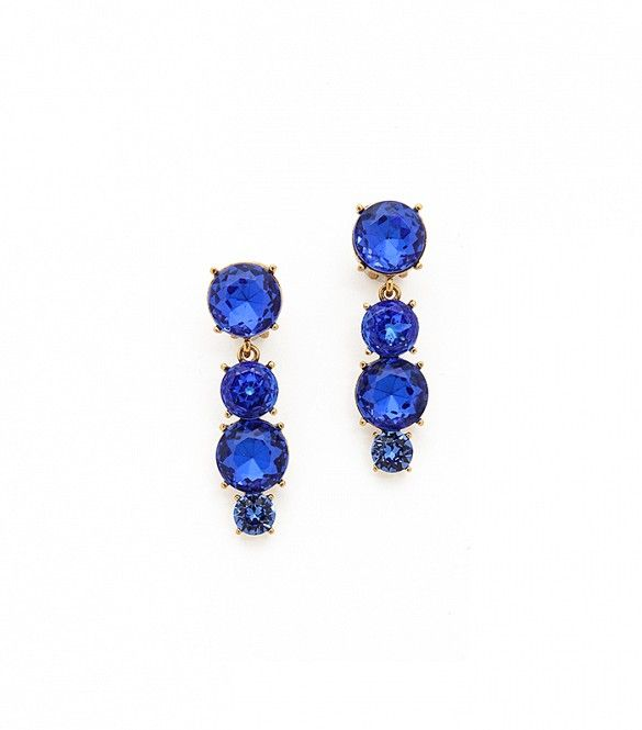 With this entrancing shade of blue, you're sure to stand out. // Jewel Drop Earrings by Oscar de la Renta