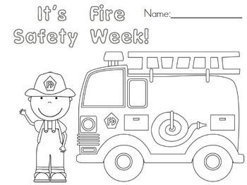 Emergent Reader Color Book Fire safety week Safety week and Fire