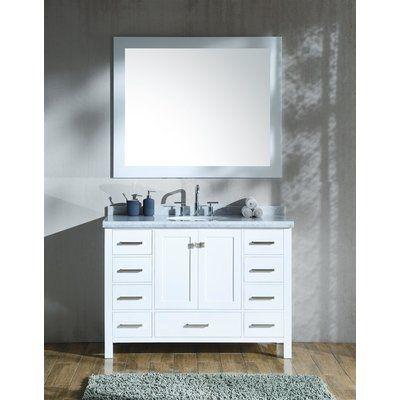 Website Picture Gallery Red Barrel Studio Laureldale Single Bathroom Vanity Set Base Finish White