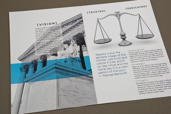 Classic Law Firm Brochure Template  Graphic Design