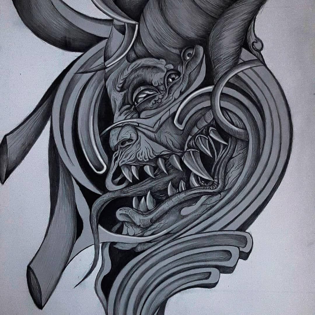 На карантине делаю не много зарисовок) RinatBondar_tattoo