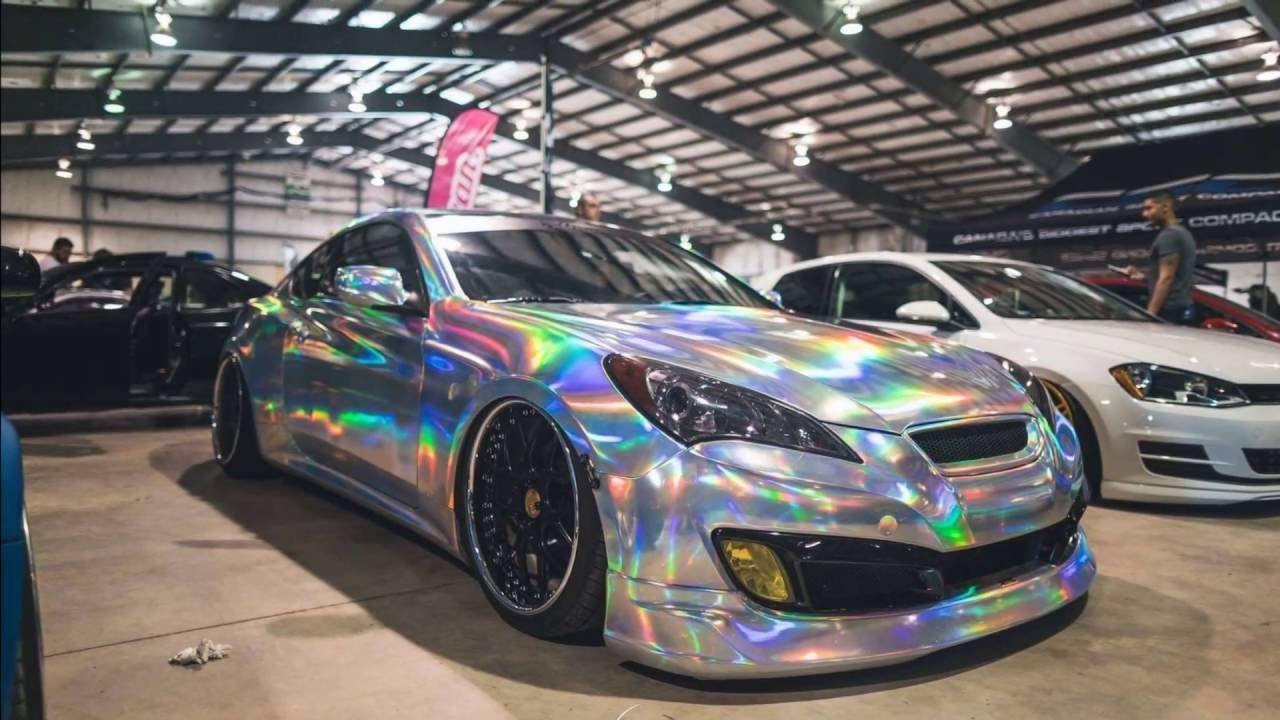 Incredible holographic chrome vinyl wrap by christiancredible silver h
