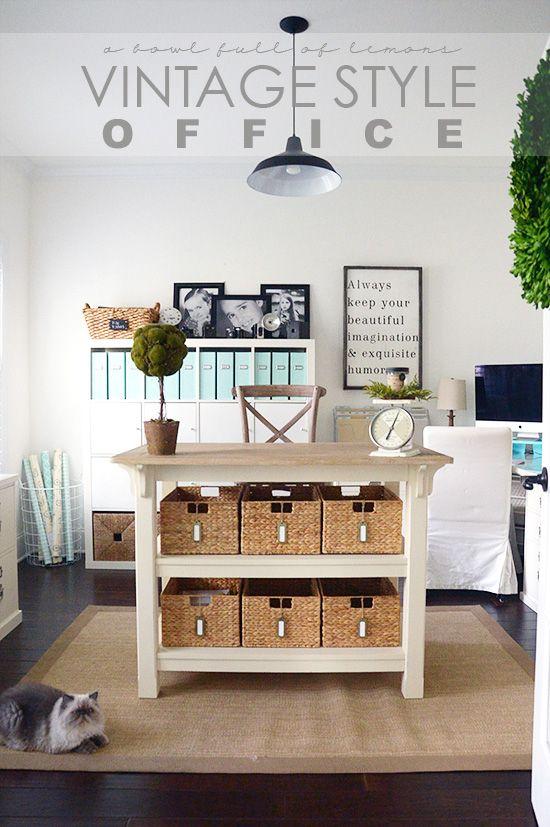 cottage style office. Vintage Style Office Via A Bowl Full Of Lemons Cottage I