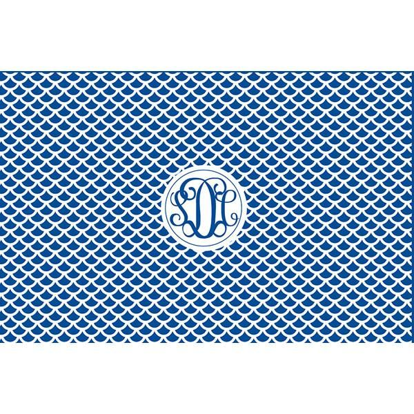 Personalized Scale Pattern Monogrammed Serving Tray from Shelby Dillon Studios. For all your colorful home style needs, shop ShelbyDillonStudios.com.