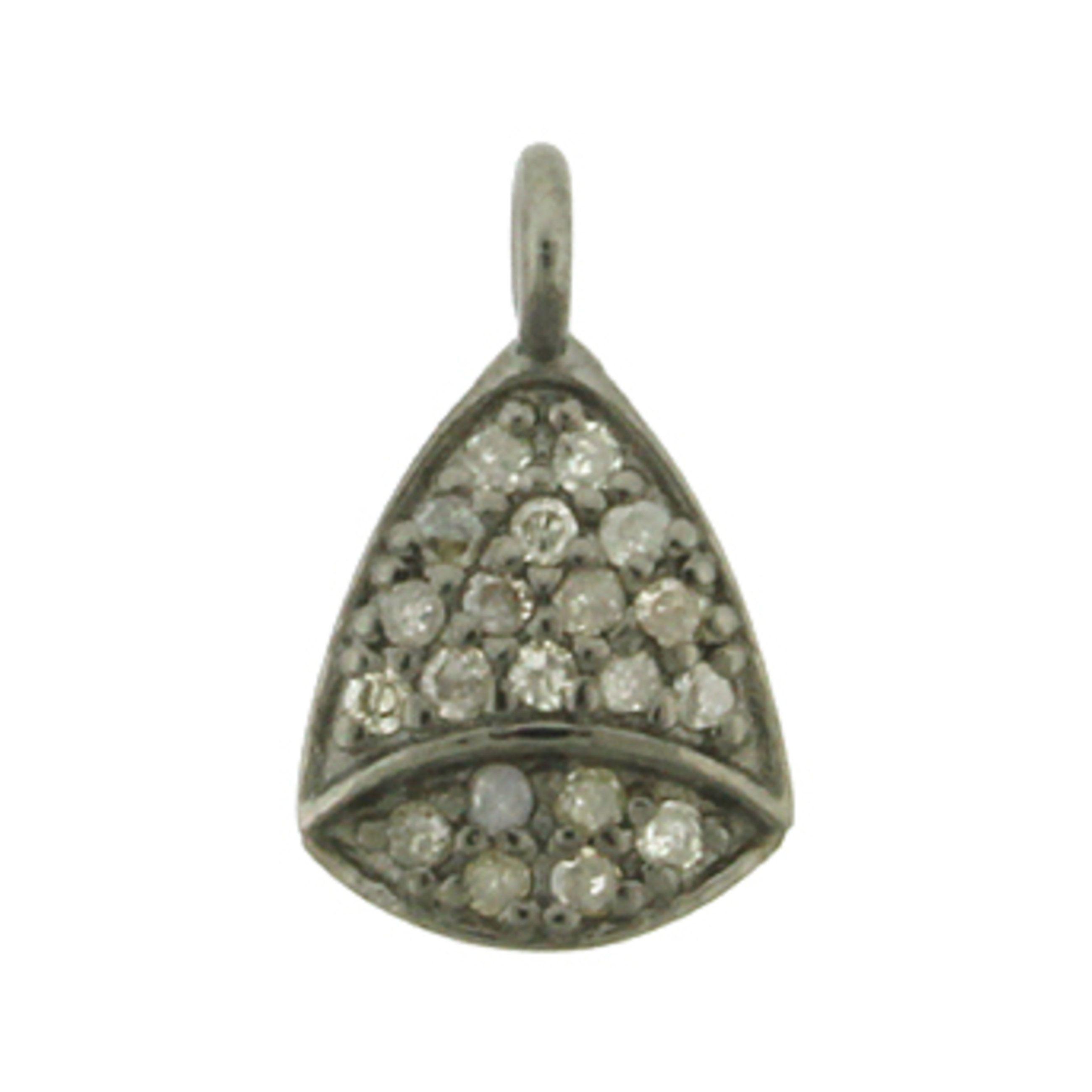 925 SIlver Pave Diamond Charm Pave Diamond Pendant Pave Diamond Arrowhead Charm Pave Diamond Charm Pave Diamond Arrowhead Pendant