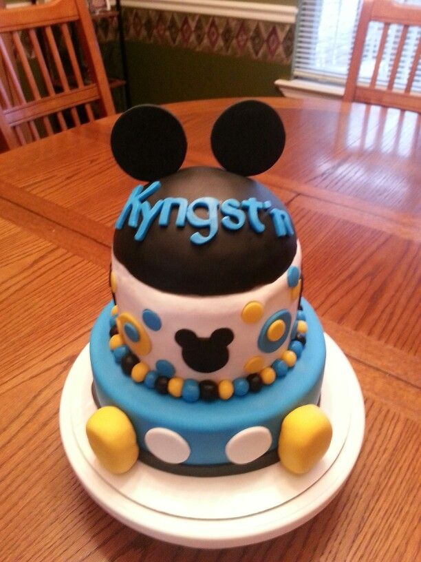 Mickey Mouse Baby Shower Cake Cakes Ive Made Pinterest Mickey