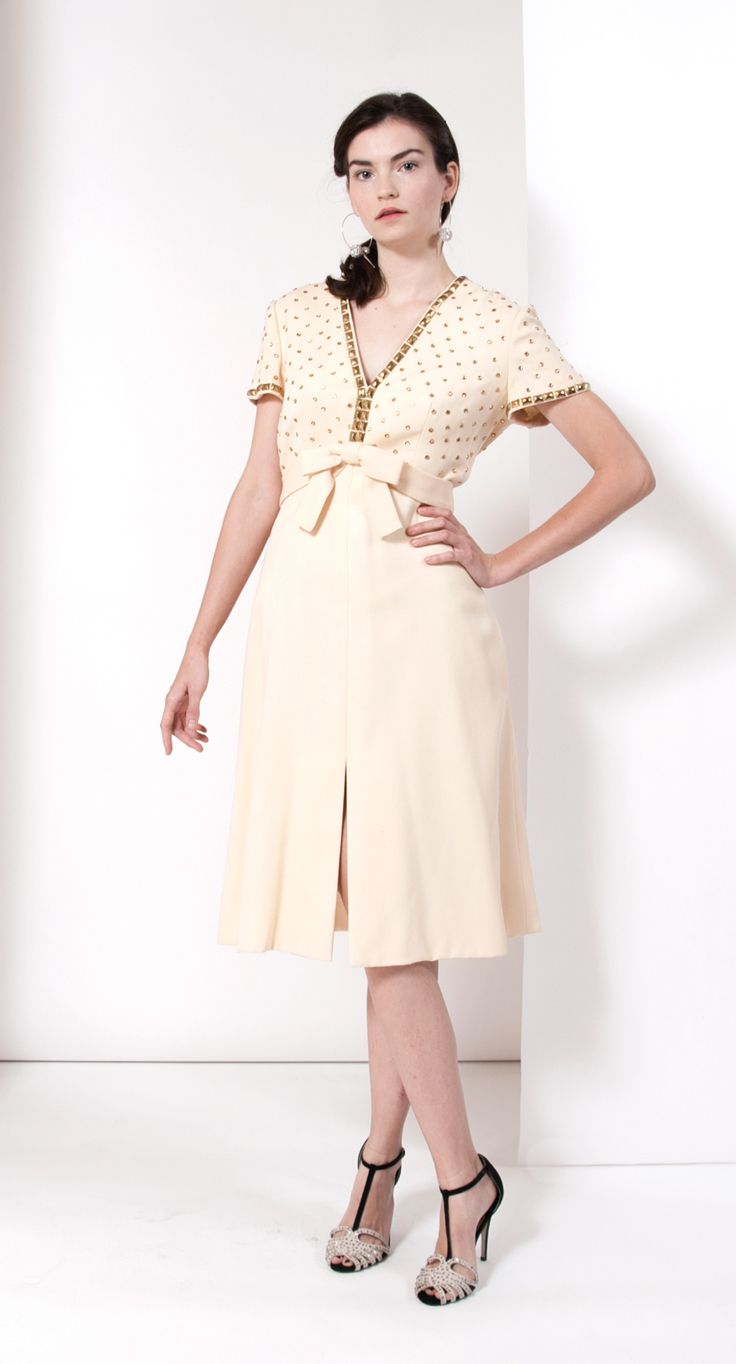 Vintage 1960s Mollie Parnis Studded Dress