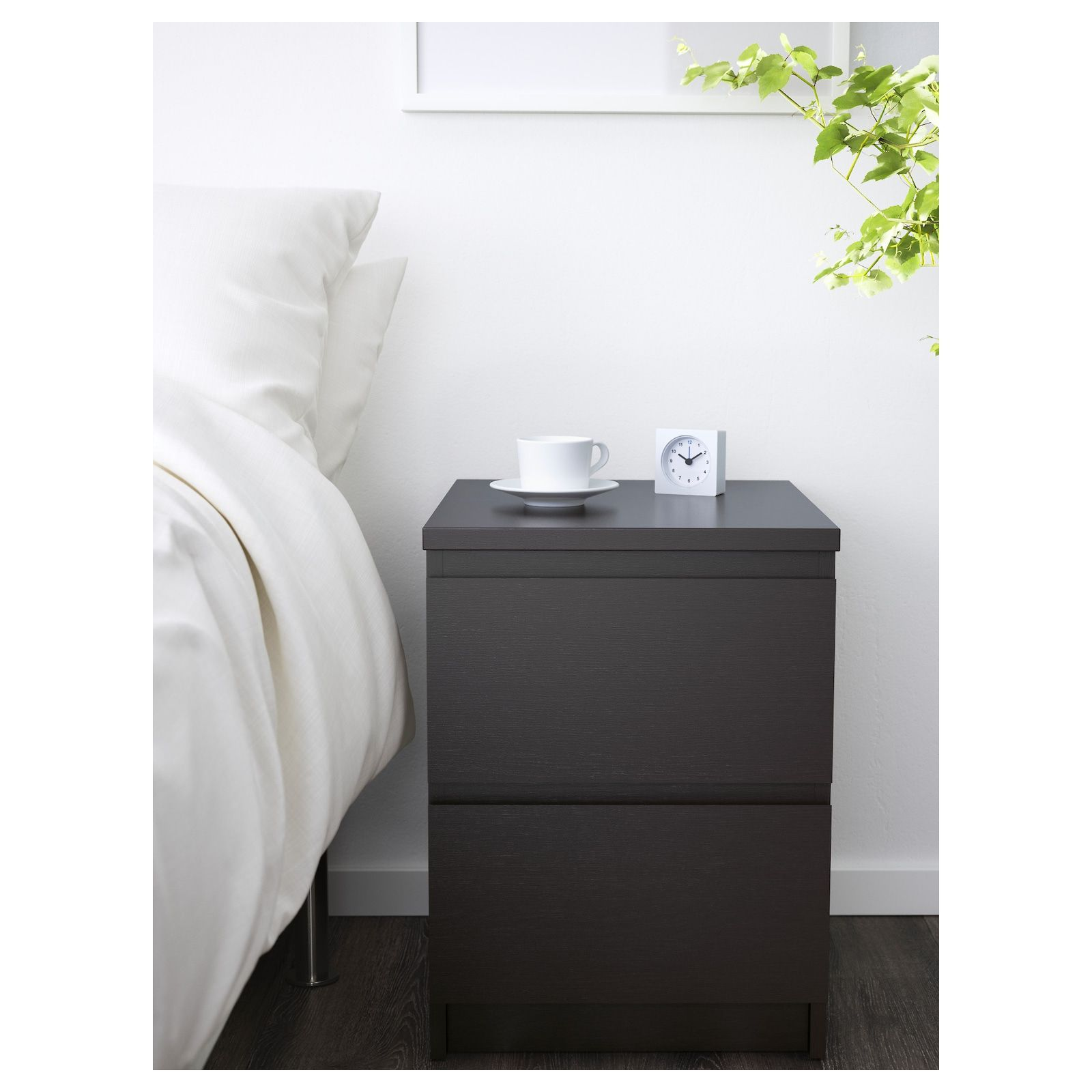 Malm 2 Drawer Chest Black Brown 15 3 4x21 5 8 Ikea In 2020