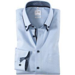 Photo of Olymp Luxor Shirt, comfort fit, Button-down, Bleu, 39 Olympolymp