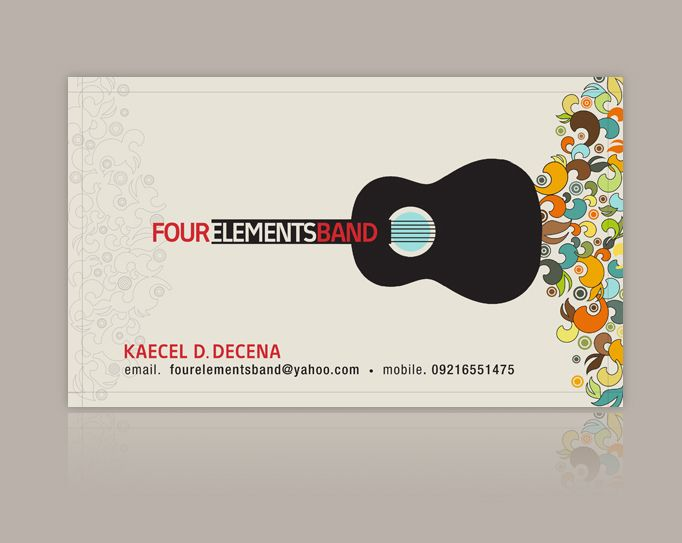 four elements band business card 2007 by nollzzju on deviantart - Band Business Cards