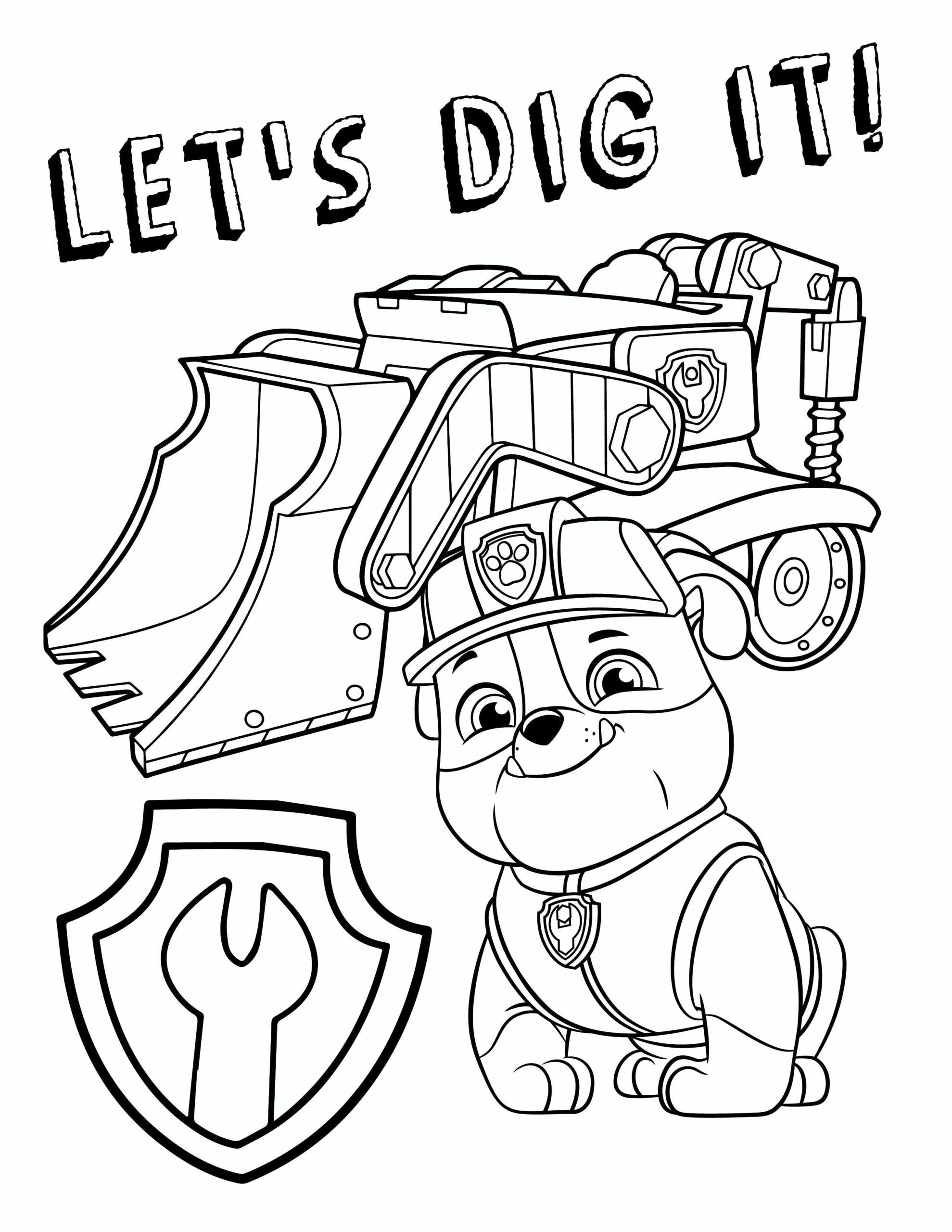 Colouring Page Paw Patrol Coloring Pages Paw Patrol Coloring Cartoon Coloring Pages
