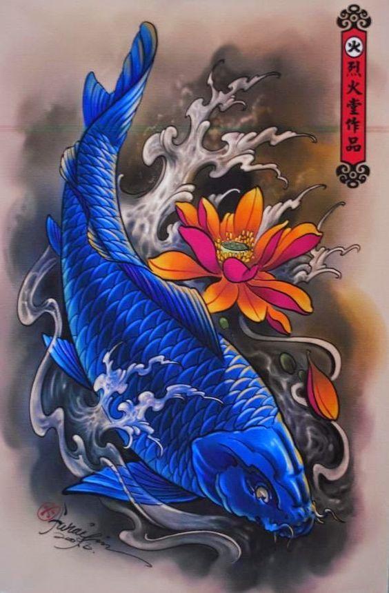 Pin Di Koi Tattoo