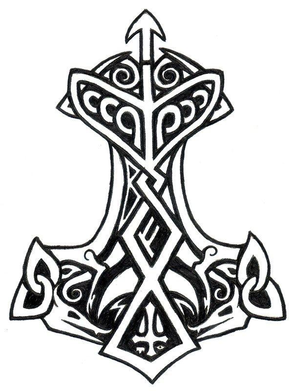 Nordic Symbols Thor Thunder God Dream Of The Future Pinterest