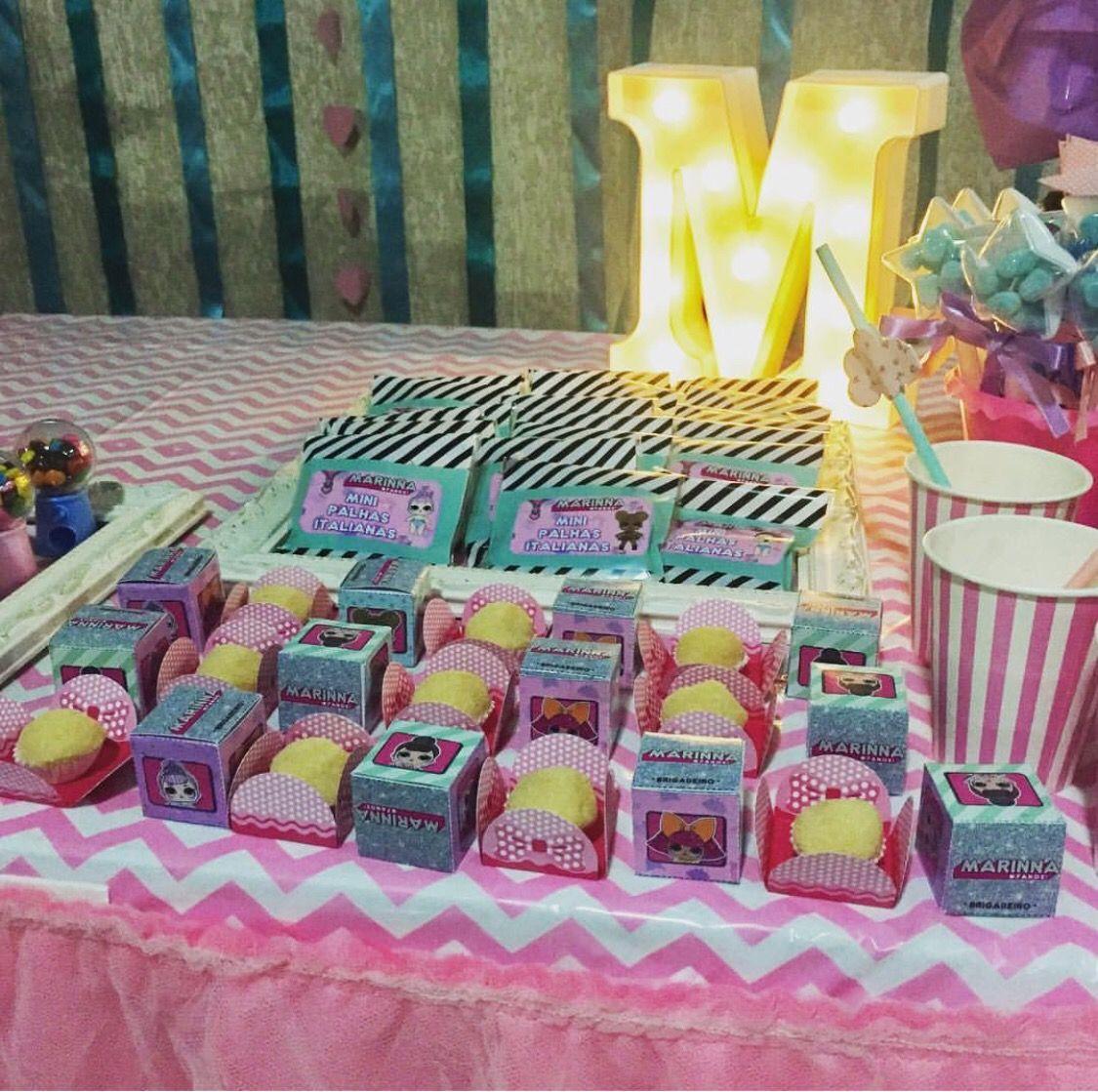 LOL Surprise Dolls Dessert Table Set Up