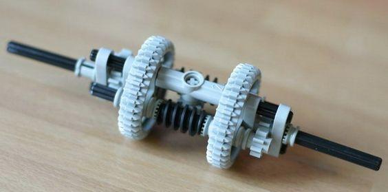 Compact Torsen Differential:   lego - technic   Legobitar