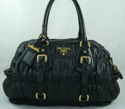 Authentic Prada Gaufre Lambskin Leather Satchel Shoulder Bag Handbag Purse Ebay Price Us 1 300 00