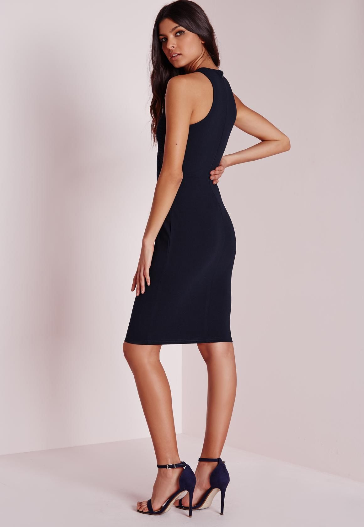 8682e2c352 Pin by hung on Livia Rangel Collection in 2019 | Navy midi dress ...