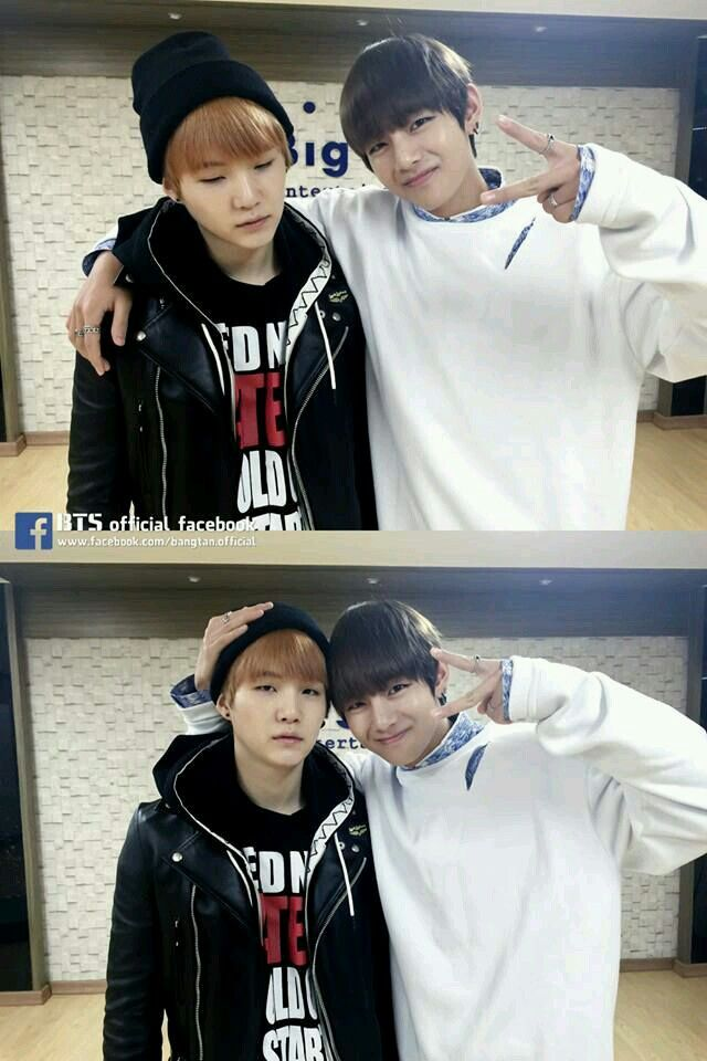 I'm Suga on the outside and V on the inside