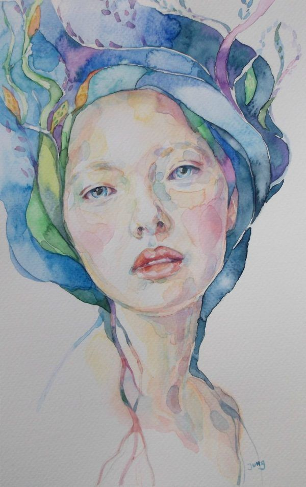 Watercolor Paintings By Dunja Jung Dessin Aquarelle Portrait