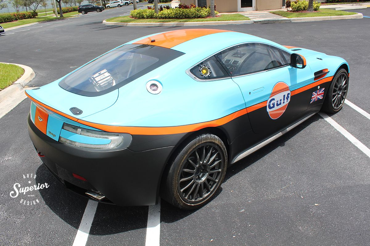 Aston Martin Race Car Sienna Motors Custom Livery Gulf