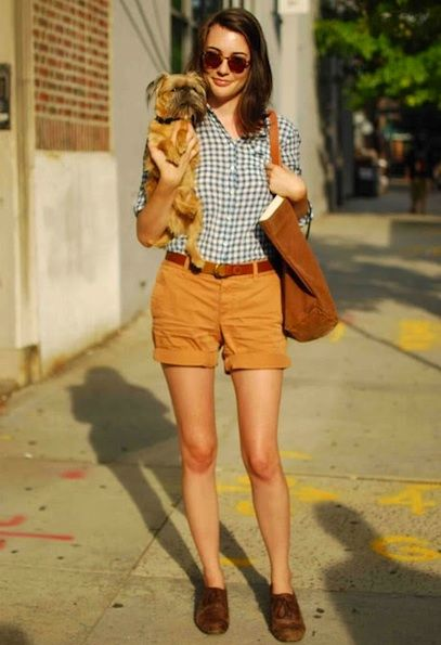 This is so coordinated. Even the dog seems to match the outfit.