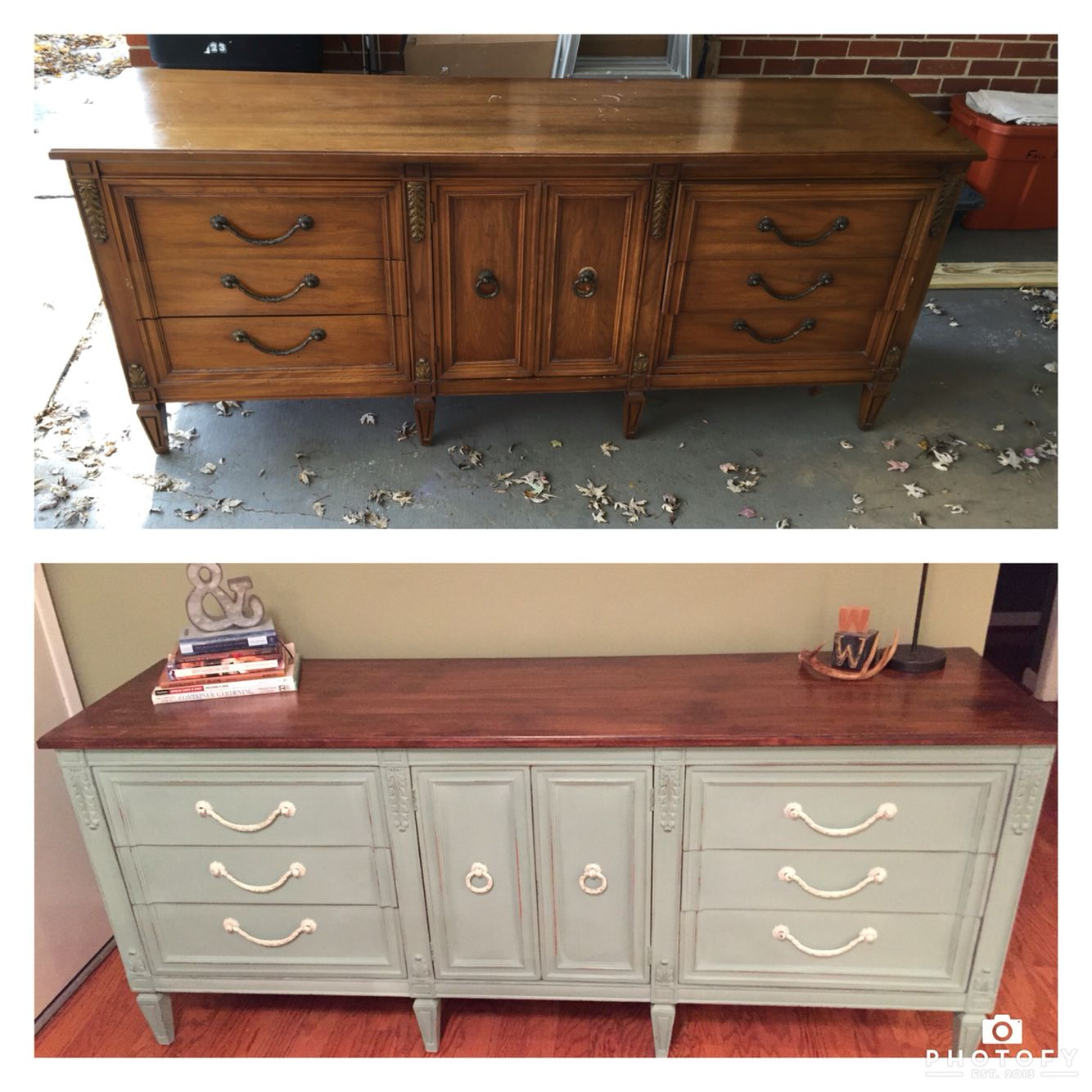 Annie Sloan Chalk Painted Dresser Diy Before And After Duck Egg Blue Annie Sloan Furniture Repurposed Furniture Furniture