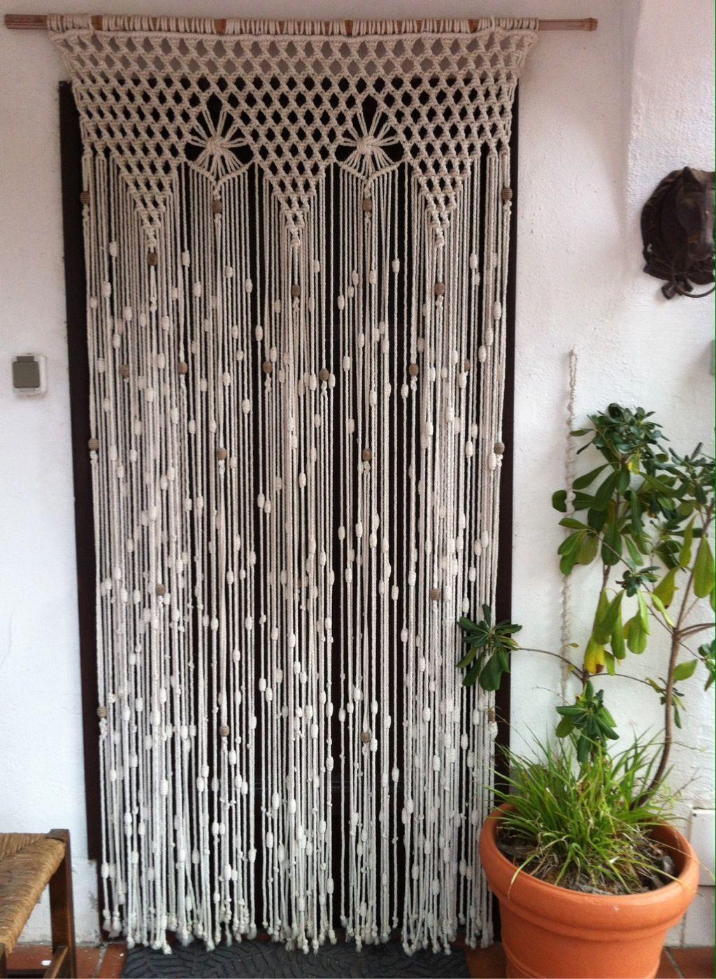 Se hacen cortinas de macram confeccion artesanal - Cortinas de abalorios ...