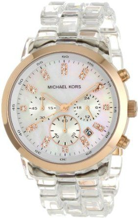 34d8c5df0645 Amazon.com  Michael Kors Quartz Mother of Pearl Dial Clear Band - Women s  Watch MK5394  Michael Kors  Watches