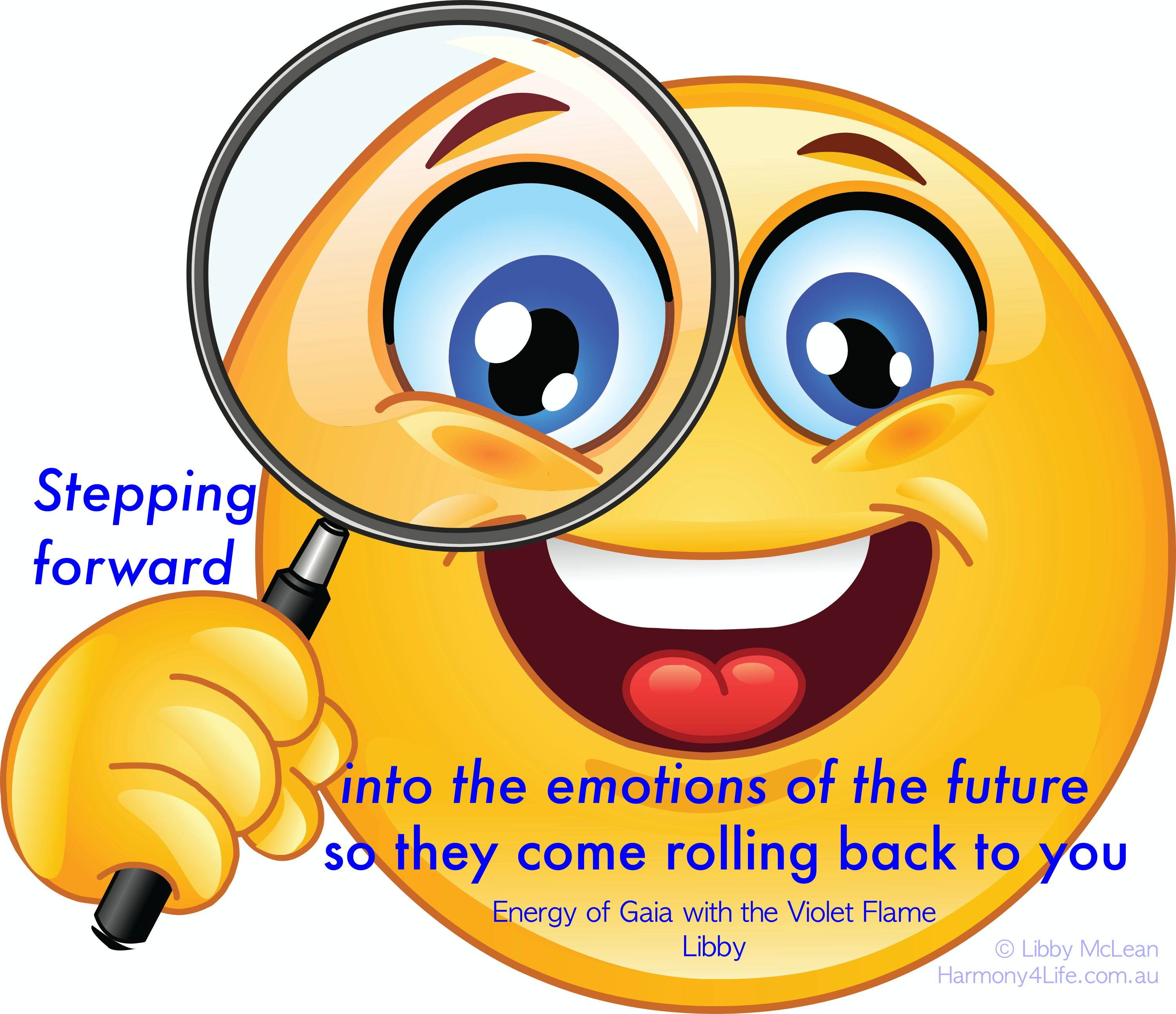 Put Your Thoughts Into The Future Emoticons Emojis Smiley Emoji
