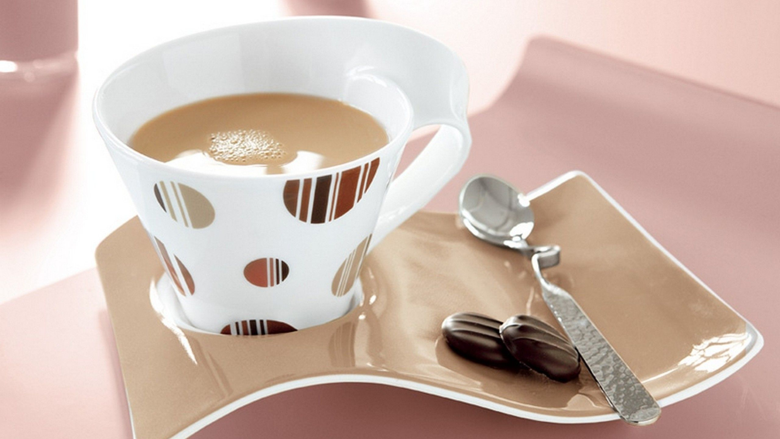 beautiful table ware Coffee time Good morning friends