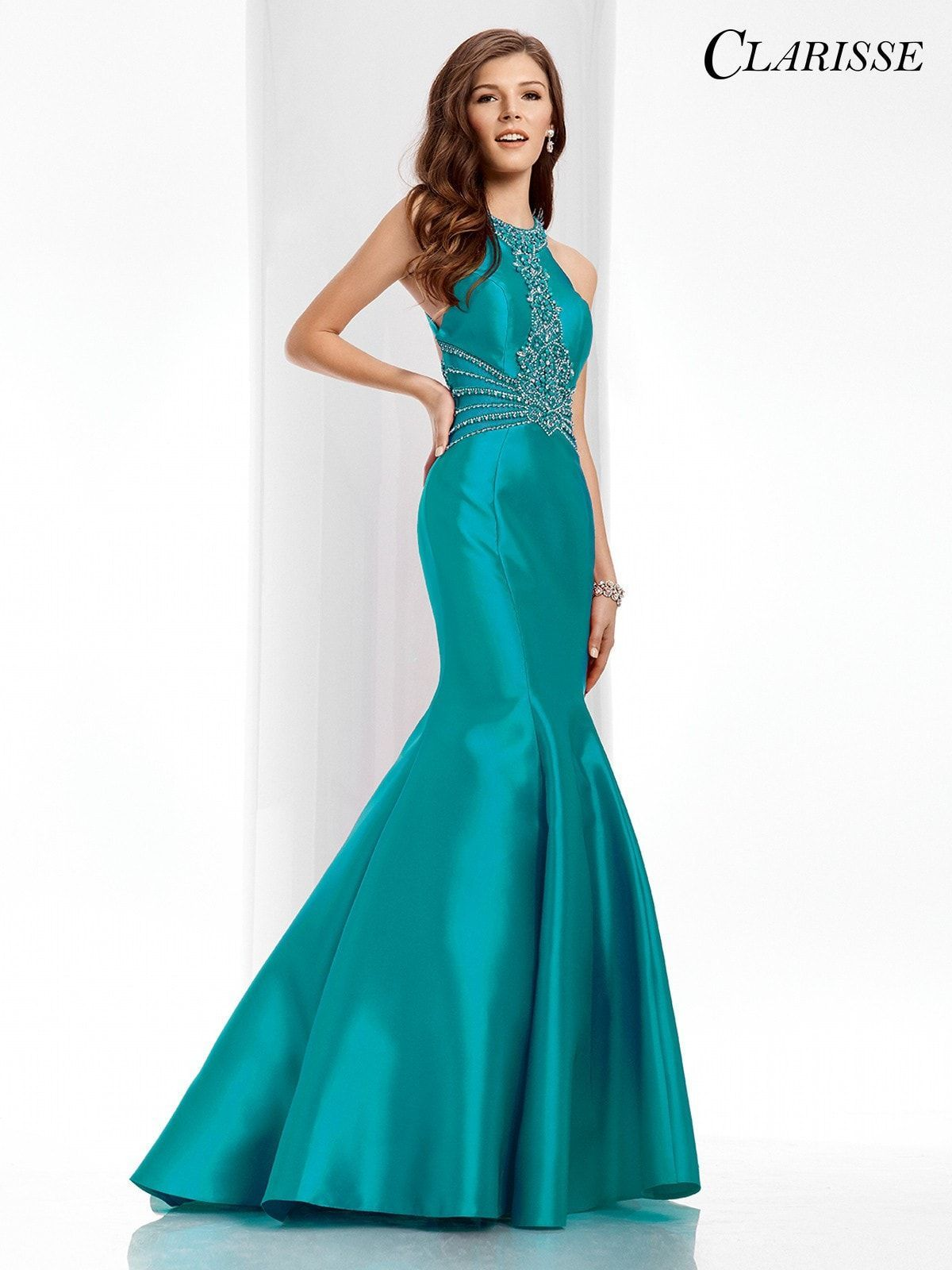 Clarisse prom turquoise mermaid prom dress fashion in