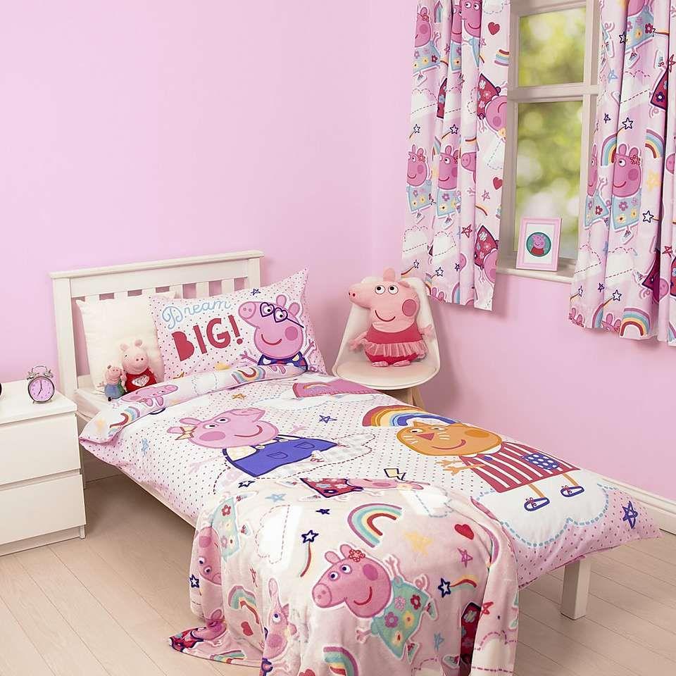 Peppa Pig Sticker Duvet Cover and Pillowcase Set Peppa