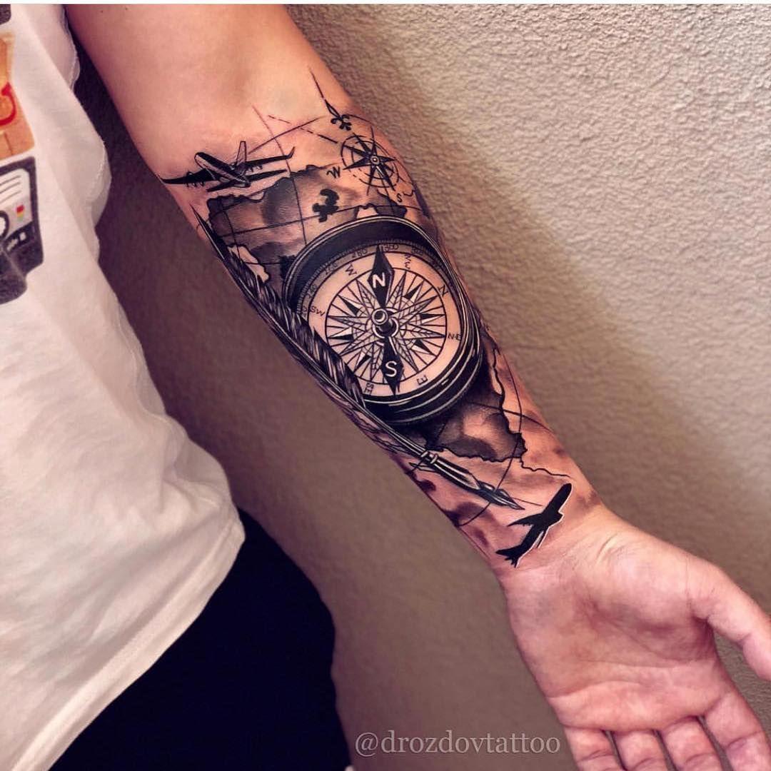 Pin De Jesus Paez En Nois Tatuaje De Brazalete Tatuajes Para Hombres En El Antebrazo Tatuajes De Mapa