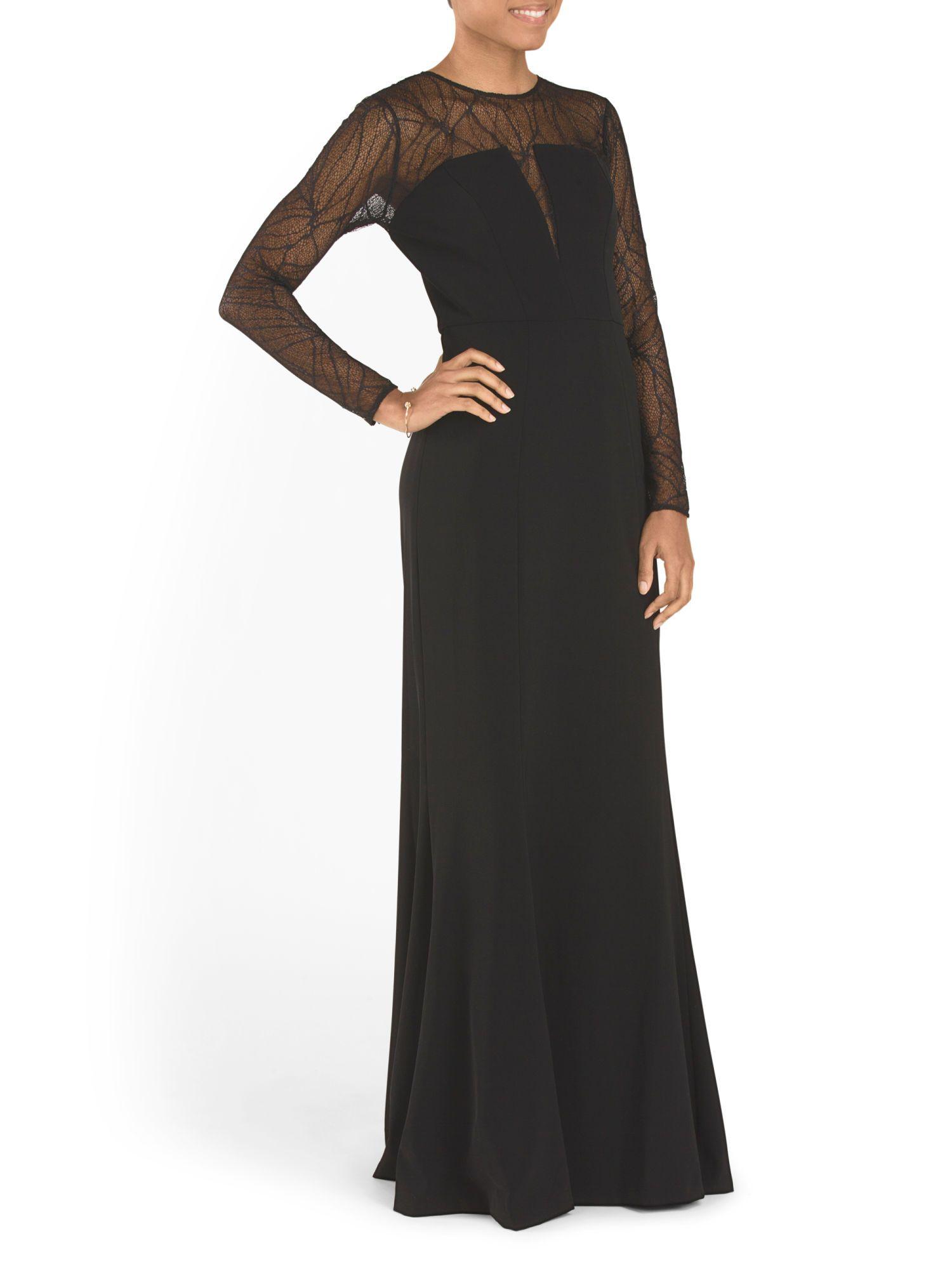 ML MONIQUE LHUILLIER Stretch Crepe Dress Evening Gown $149.99 | TJ ...