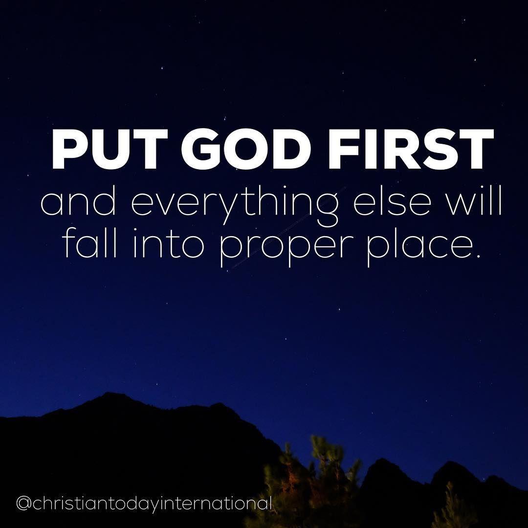 "ChristianToday on Instagram: ""Put God first. Amen. #amen🙏 #dailydevotional #jesuslove #prayerquotes #faith🙏 ...follow @christiantodayinternational"""