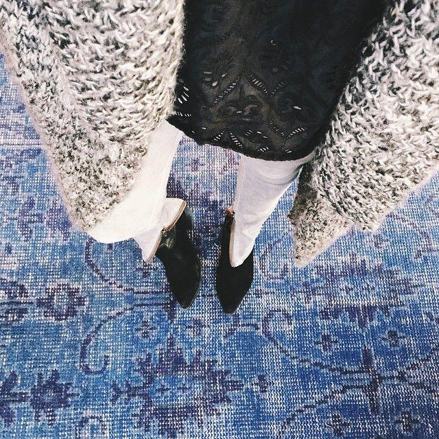 lacy cutouts + chunky knit