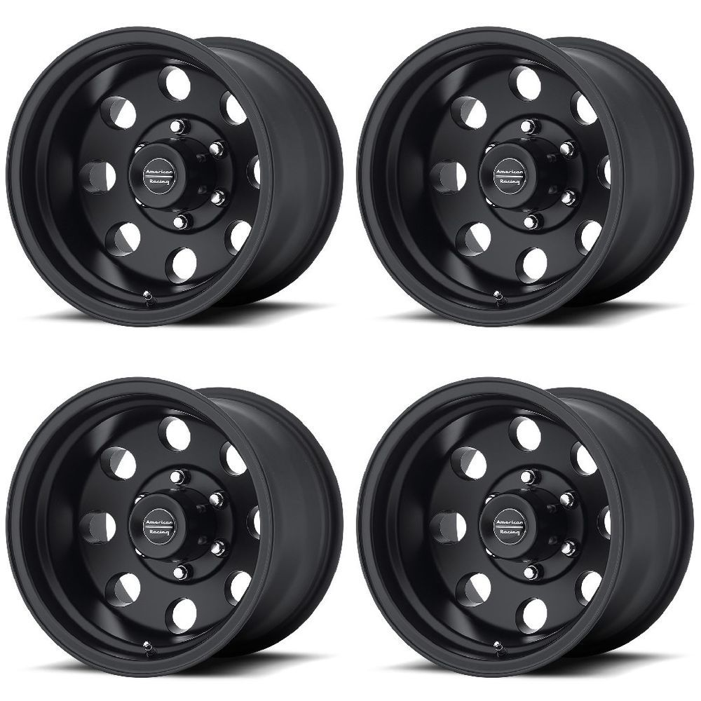 Set 4 16 American Racing Ar172 Baja Black Wheels 16x8 6x5 5 0mm