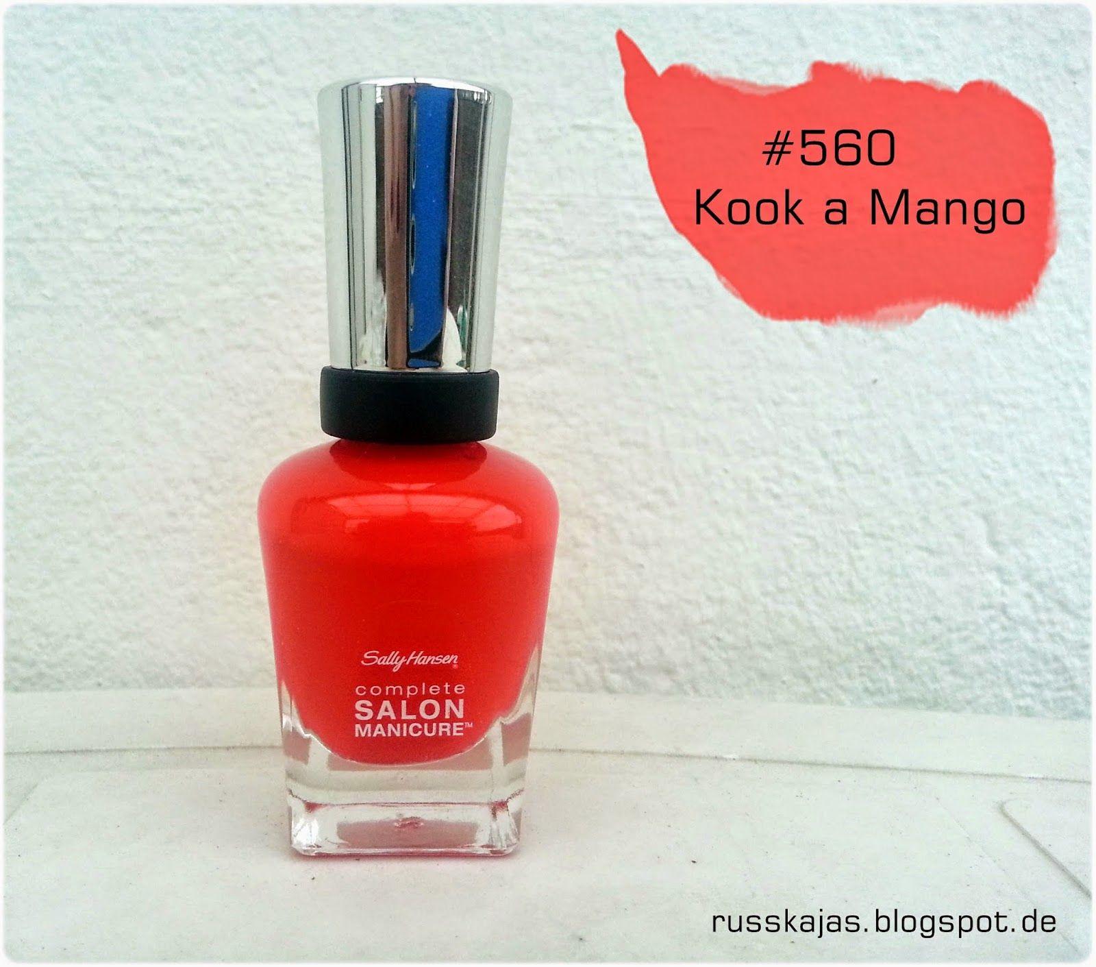 .Russkajas Beauty.: NOTD - Sally Hansen # 560 Kook a Mango