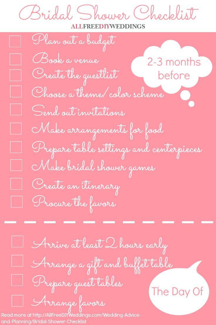 bridal shower checklist
