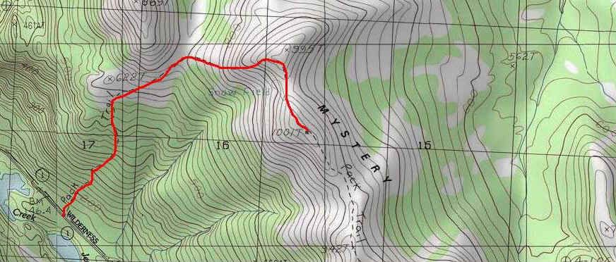 Skyline Trail topo map