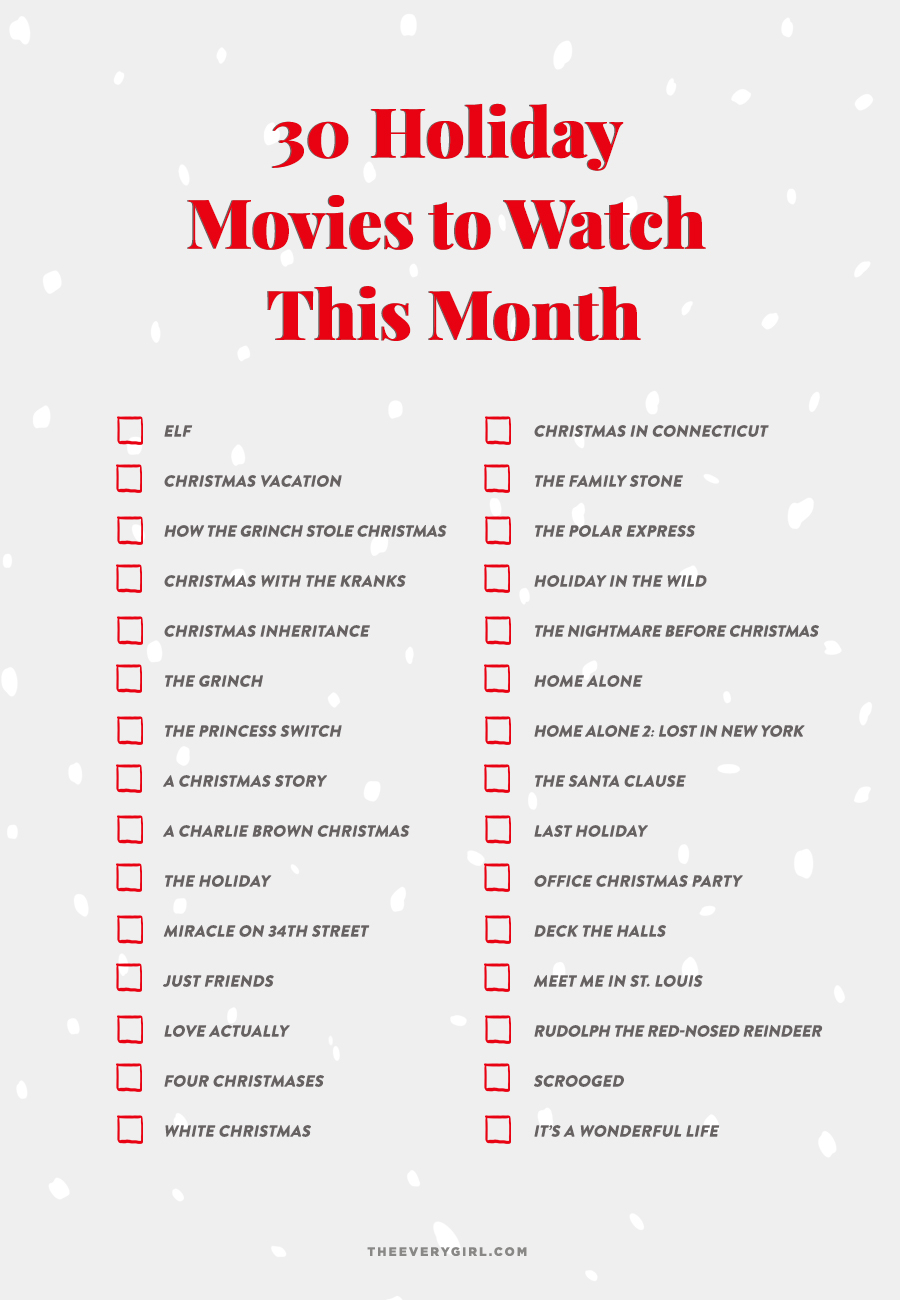 30 Holiday Movies to Watch This Month