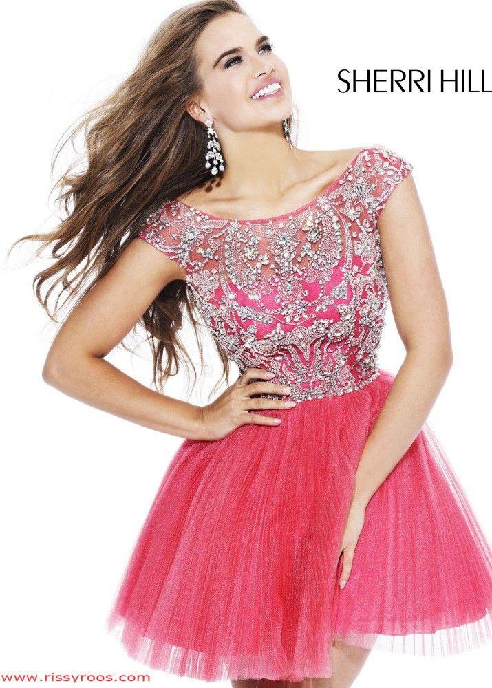 Sherri Hill 2814 Coral Cocktail Dress | Graduation dresses ...