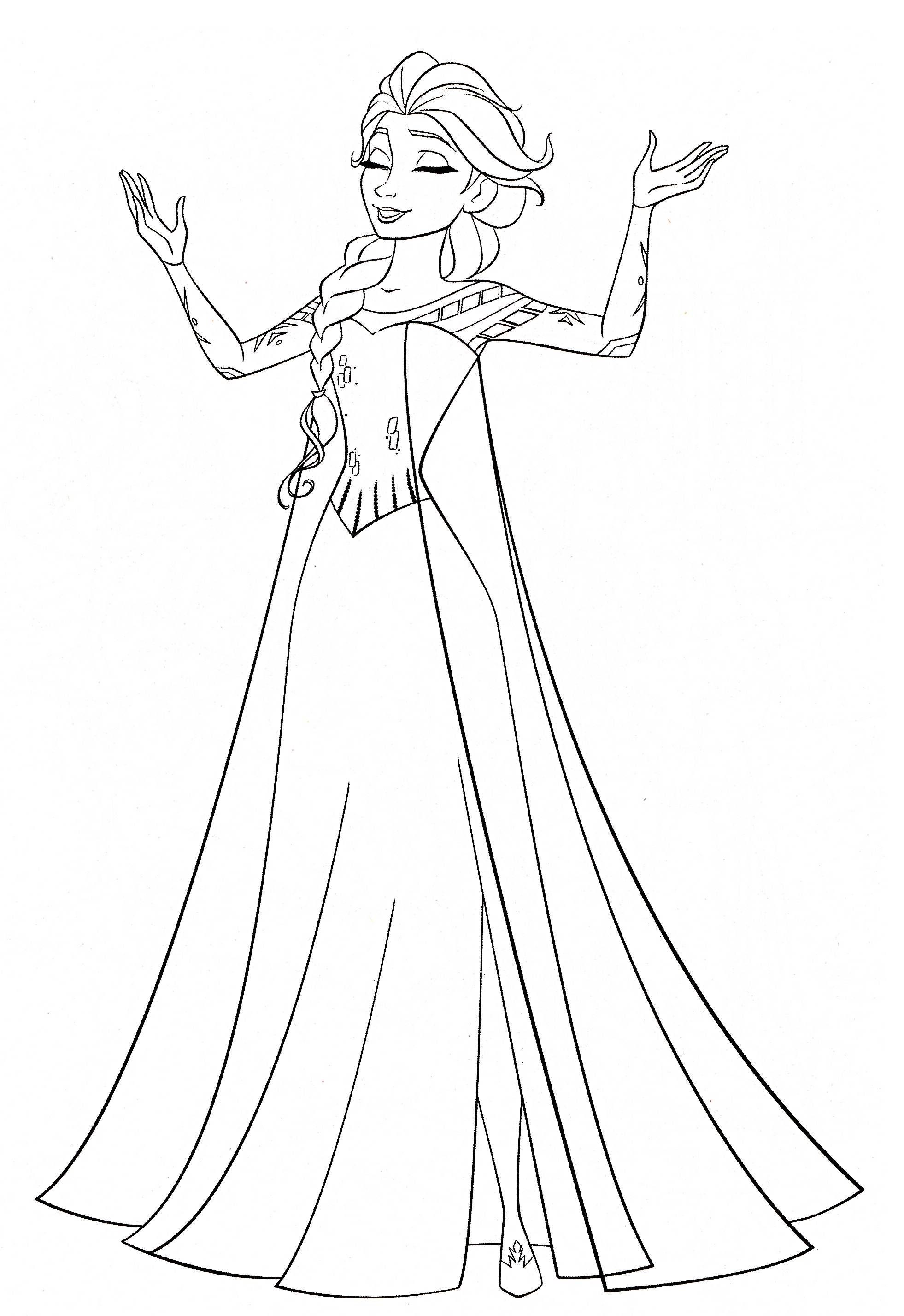Ausmalbilder Zum Ausdrucken Anna Und Elsa in 11  Disney